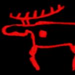 Felsmalerei-Rentier-Lappland