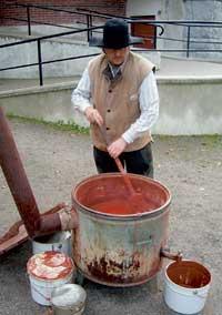Schwedenrot Farbe kochen