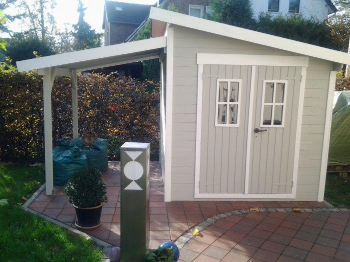 Gartenhaus Farbe Streichen