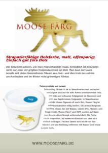 Gebrauchsanweisung Moose F, S, RDM